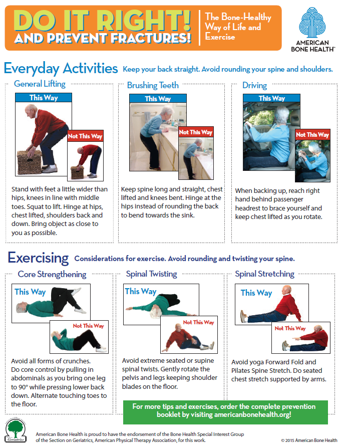 Do It Right and Prevent Fractures—Handout
