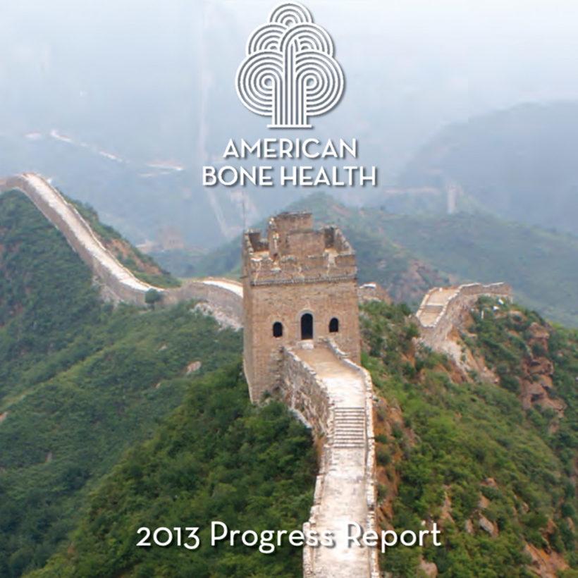 Great Wall of China - American Bone Health 2013 progress report